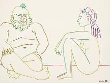 Pablo Picasso lithographie deux nus 2 LA COMÉDIE HUMAINE 1954 MOURLOT RRP £ 750