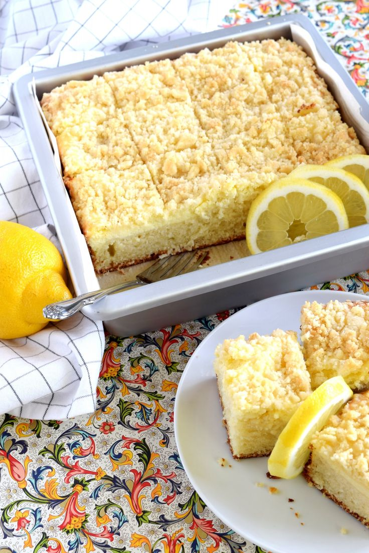 Lemon Cream Cheese Coffee Cake is extra lemony, with a creamy filling and a crumbly topping.  Light, refreshing, and delicious; brew the coffee and invite your friends! There's just something really satisfying about a good coffee cake.  And grocery stores…