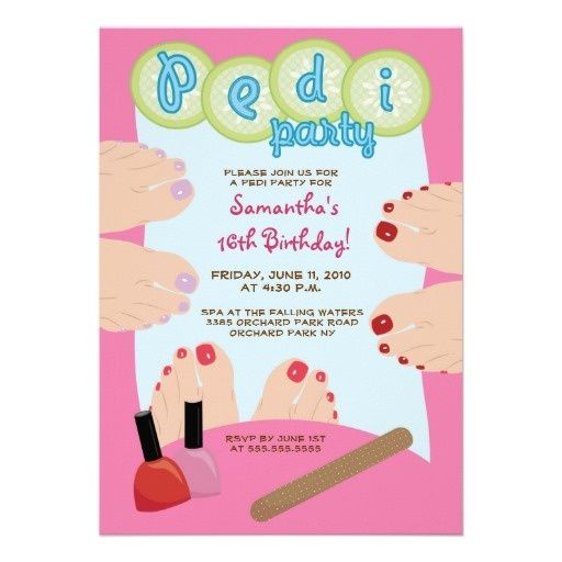 38 best Pedicure Party images – Pedicure Party Invitations