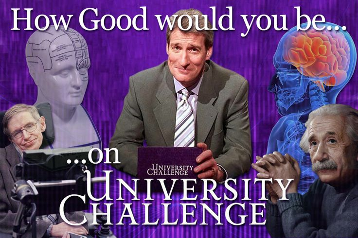 How well would you do on University Challenge?  Good quiz for teens