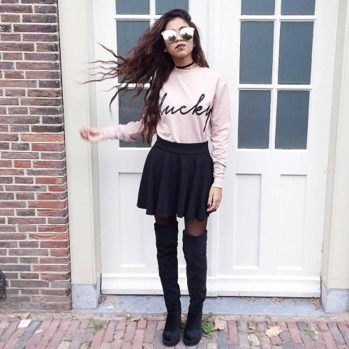 Outfit Ideas 2016/2017  zafulfashion: @prishella in our Pink Frameless Mirrored