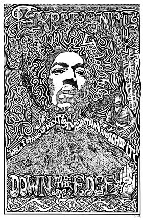 Jimi Hendrix Voodoo Chile Art Print by by Posterography on Etsy