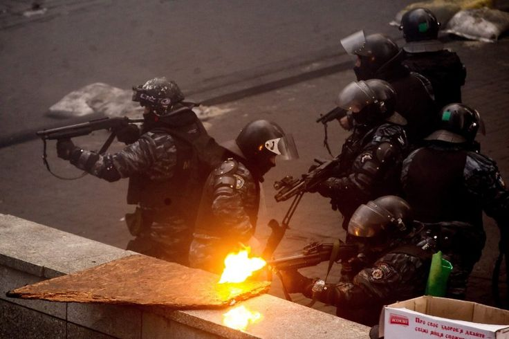 Riot police firing at anti-government protesters on Thursday morning. The mayor...