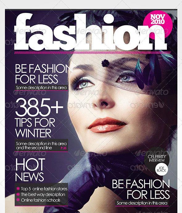 55 best Magazine Cover Templates images on Pinterest En vogue