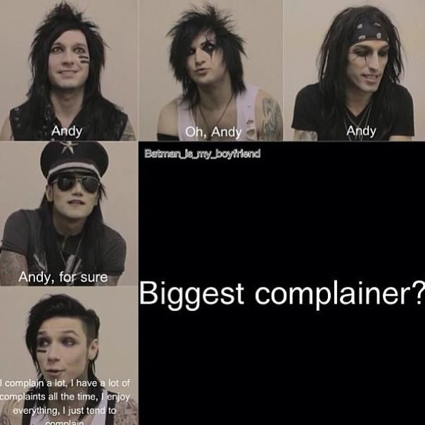 lol I doubt that Andy is unless Justin Beiber is at his concert and is flipping him off!:D I want to watch him throw another water bottle at him though!!! that was funny!!:D:)