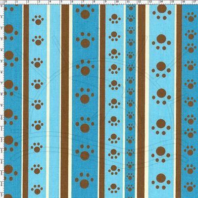 Tecido Estampado para Patchwork - DB056 Paw Stripe Cor 02  100% Algodão - 50cm de comprimento - 1,40m de largura    Cada unidade refere-se a um pedaço de 50cm de comprimento por 1,40m de largura. Para adquirir 1 metro, selecione 2 unidades.   Fabricante:  Fernando Maluhy