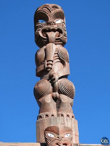 Totem Maori en Nouvelle-Zélande.  #NouvelleZelande #NewZealand