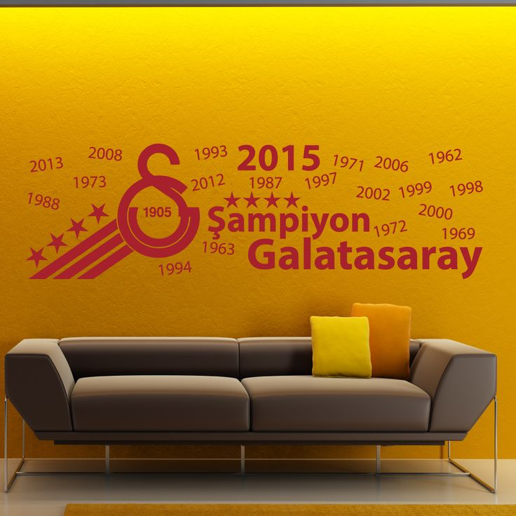 Galatasaray 4 yildizli Logo – Galatasaray 4. yildiz – Wandtattoo – Duvar Tattoo