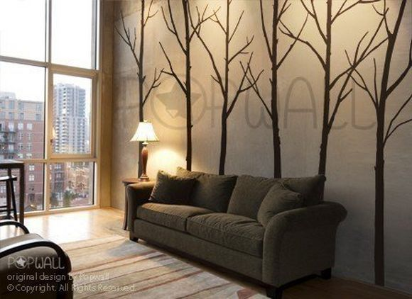Wall Decal Winter Tree Wall Decal , Living Room, Bedroom Wall Decals Wall  Sticker Art ,wall Design    036 By NouWall On Etsy