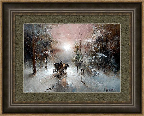 Russian Artists New Wave Framed Print featuring the painting Going For Visit by Igor Medvedev