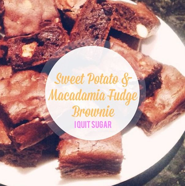 I Quit Sugar: Sweet Potato and Macadamia Fudge Brownie