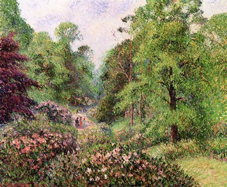 Kew Gardens Alley of Rhododendrons 1892 ~ Camille Pissarro ~ (French: 1830-1903)