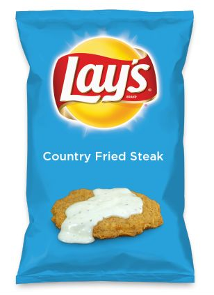 Wouldn't Country Fried Steak be yummy as a chip? Lay's Do Us A Flavor is back, and the search is on for the yummiest flavor idea. Create a flavor, choose a chip and you could win $1 million! https://www.dousaflavor.com See Rules.