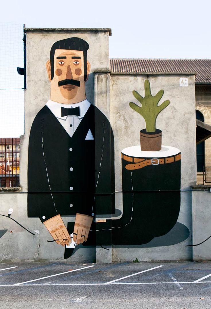 A street art poética de Agostino Iacurci