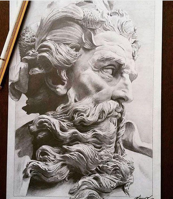 Line Drawing Of Zeus : Zeus d inacabado by frankesley fan art