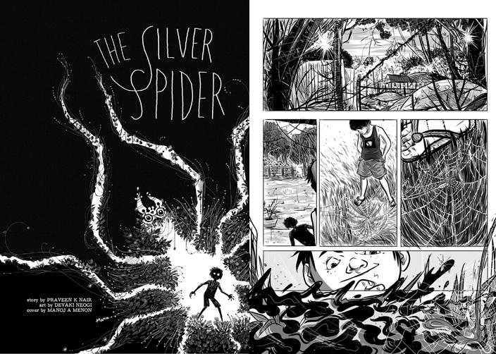 Inside Silver Spider - Written By Praveen K Nair & Art by Devaki Neogi