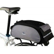 Hátsó csomagtartóra tépőzárral illeszkedő kerékpár, biciklis táska. Gyorsan feltehető, levehető!