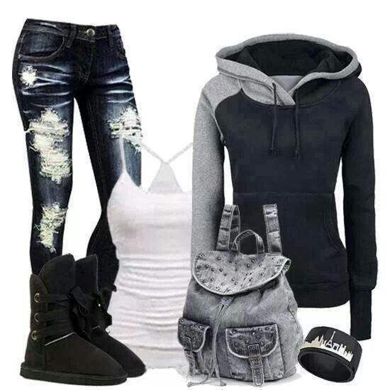 Jeans & boots adorable