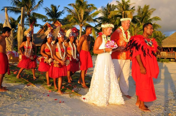 Tahitian Wedding at Four Seasons Resort Bora Bora,French Polynesia.