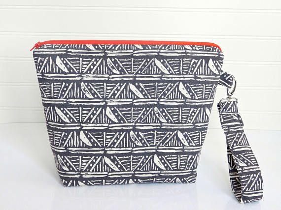 Grey Clutch Bag Large Travel Makeup Bag Grey Handbag Diaper