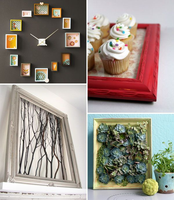 168 best frames repurposed images on pinterest craft for Creative ideas for old picture frames