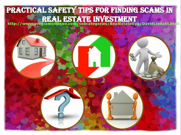 If you have interesting of investing in real estate, or may want to invest or refinance your mortgage, beware of real estate scams out there it could happen to anyone that even the most qualified investors sometimes become victims of a real estate scam.