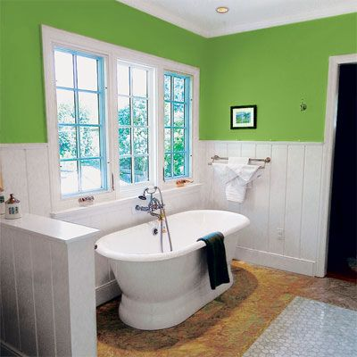 25 best images about bathroom renovation on pinterest for Bright green bathroom ideas