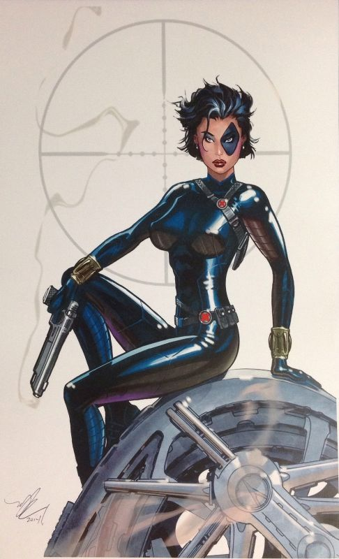 MICHAEL DOONEY MARVEL COMICS DOMINO PRINT SIGNED!, in Inkwell Awards's Prints and sketchbook donations Comic Art Gallery Room - 1167206