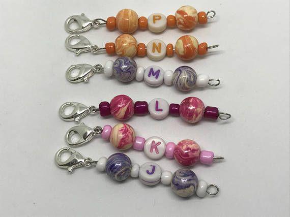 Stitch Marker, Beaded Stitch Marker, Crochet Hook Size Marker, Knitting Stitch Keeper, Knitting Supplies, Crochet Supplies