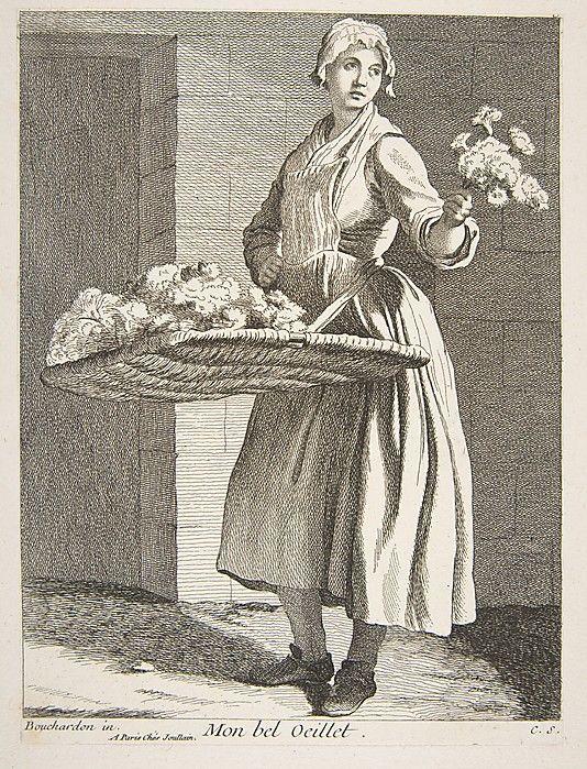 Flower Vendor Anne Claude Philippe de Tubières, Comte de Caylus (French, 1692–1765) Date: 1738