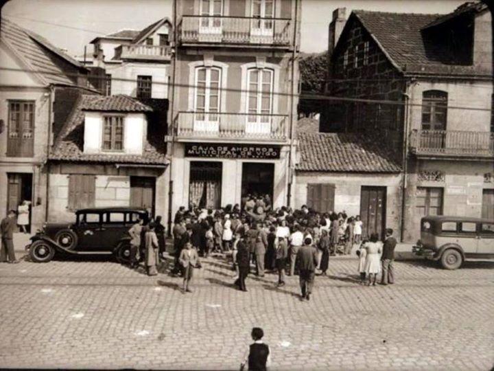 Caja de Ahorros Municipal de Vigo. Foto: Archivo Pacheco. (Faro de Vigo).