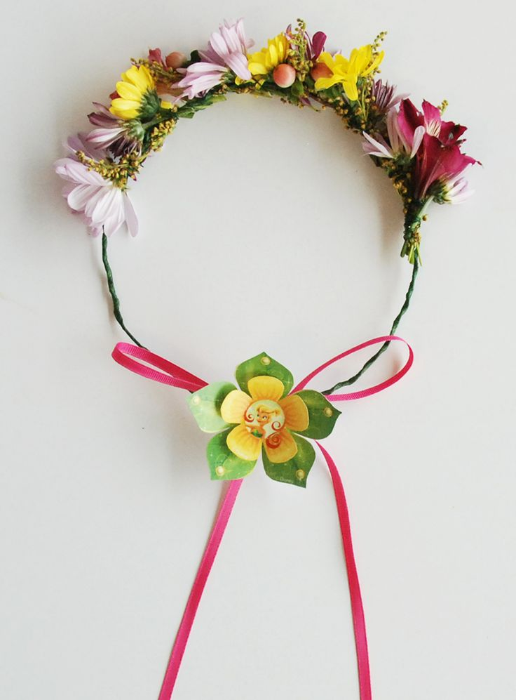 Tinker Bell's Real Flower Crown