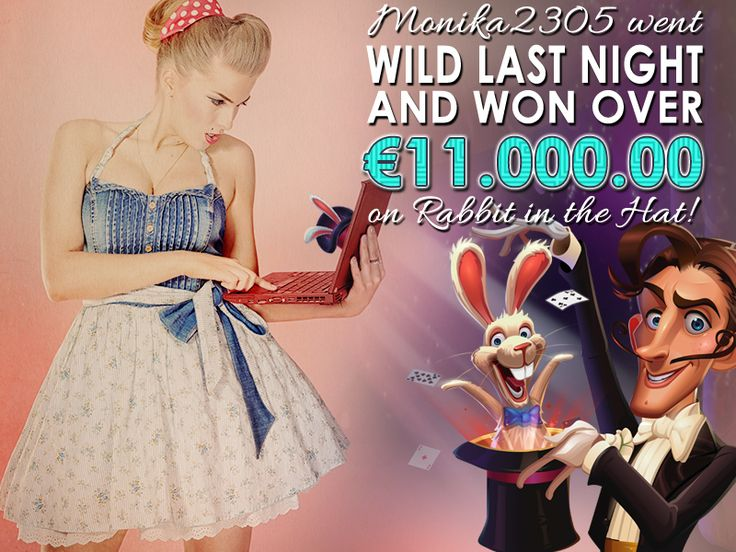 Hats off to Monika2305 who went wild last night and won over €11.000.00 on Rabbit in the Hat - http://bit.ly/esb_rabbit_in_the_hat! You go, girl!