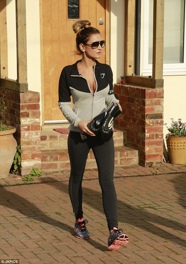 Ready for action: Sam Faiers left her Essex home on Tuesday morning and headed to the gym for a workout