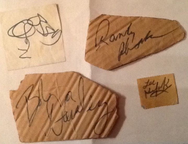 Blizzard of Ozz Autographs / Ozzy Osbourne / Bob Daisley / Lee Kerslake / Randy Rhoads... From the Royal Court Theatre, Liverpool, England, Sept. 26 1980