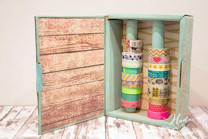 Caja decorada organizadora de washi tape | HADAS Y CUSCUS
