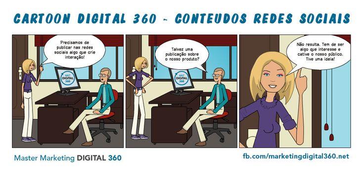 Cartoon Digital 360 - Conteúdos Redes Sociais - Master Marketing Digital 360