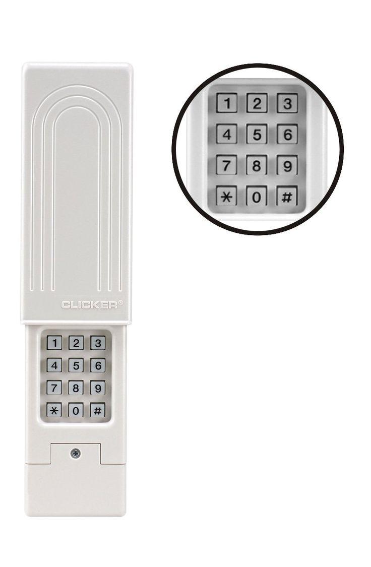 Clicker garage door keypad