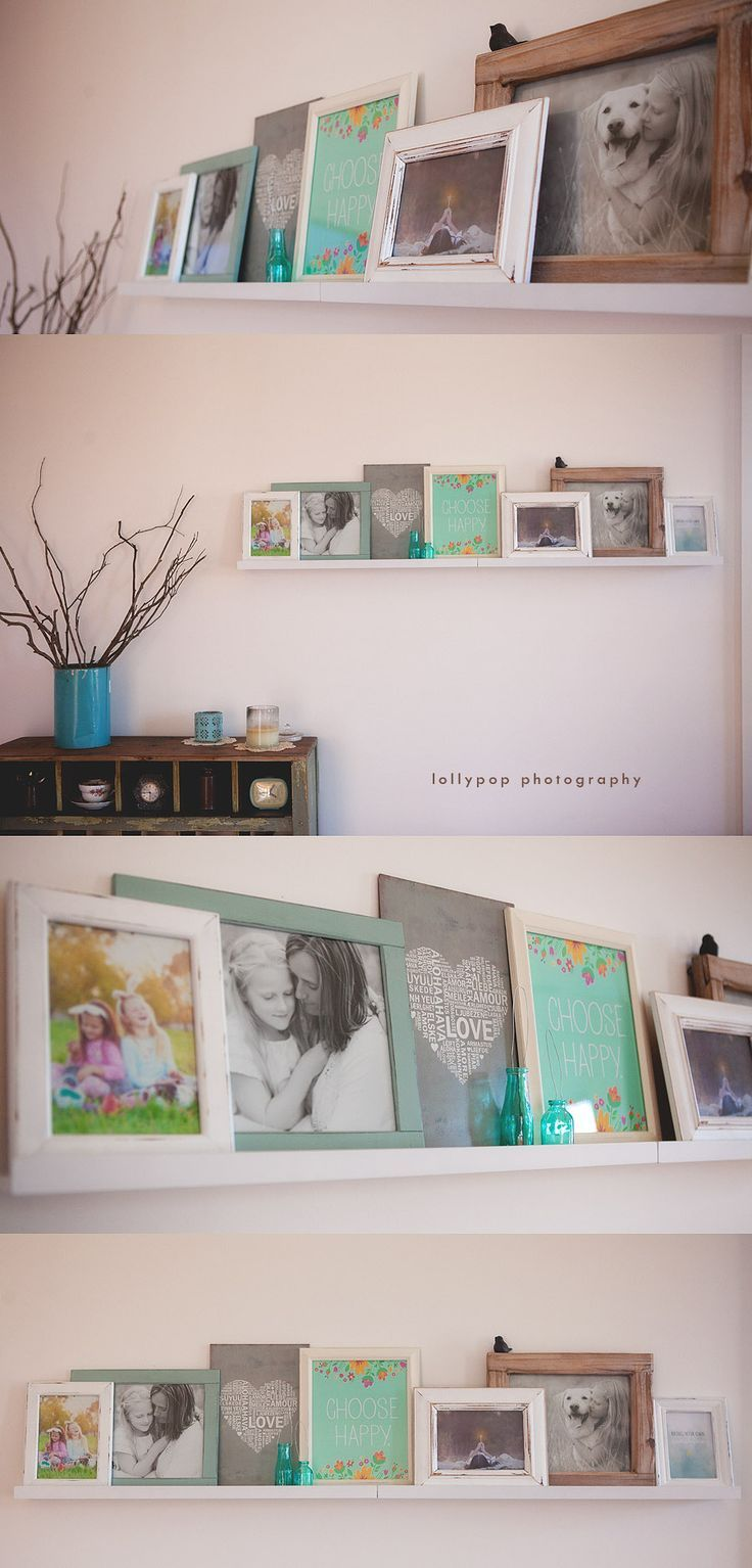 568 best images about photo display ideas on pinterest for Bookshelf display ideas