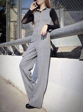 Make a statement in this stunning #jumpsuit!!! 💋 Ολόσωμη Φόρμα>>goo.gl/0txqz4 #newarrivals #jumpsuits #fall #winter #collection #herringbone #fashion #woman #stylish