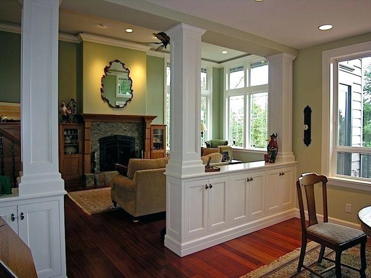Partial Walls Room Dividers Room Divider Half Wall Lit Cabinets As