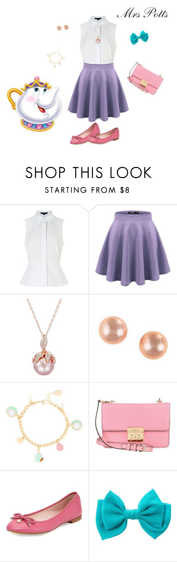 """Mrs Potts"" by tizzy-potts ❤ liked on Polyvore featuring Alexander Wang, Effy Jewelry, Michael Kors, Kate Spade, disney, BeautyandtheBeast, teapot and MrsPotts"