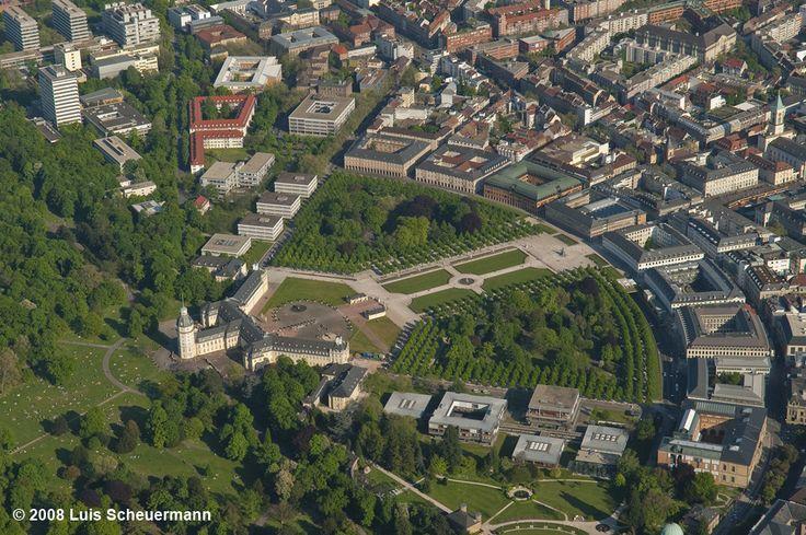 Fächerstadt von oben 1 - Bild & Foto von Luis Flasch Gordon aus Karlsruhe inkl. Landkreis - Fotografie (21630939) | fotocommunity