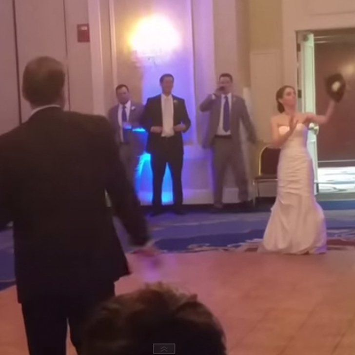 Pin for Later: Dad Stops Traditional Father-Daughter Dance For a Surprise Game of Catch