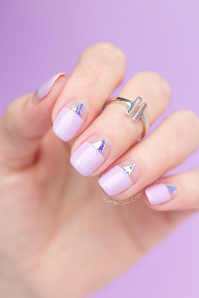 SoNailicious Birthday Nails || Negative space nails