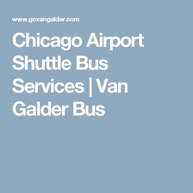 Chicago Airport Shuttle Bus Services | Van Galder Bus
