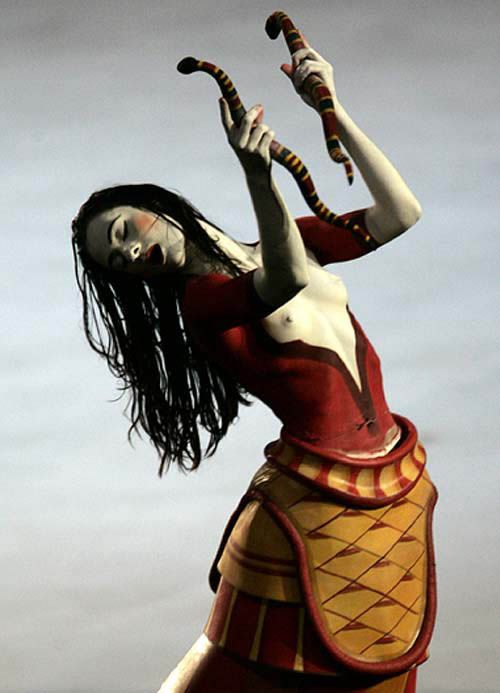 #cretan #minoan #portrait #bodypainting #olympics #athens #2004 #PloosDesign