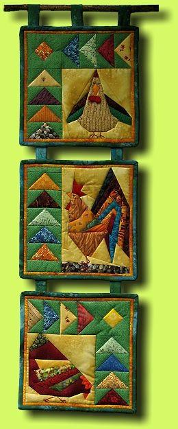 Regina Grewe - Textile Landscapes - Patterns - Chicken Run