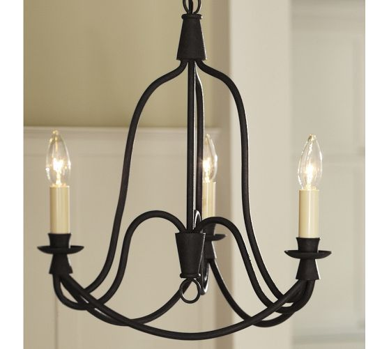 Armonk 3-Arm Chandelier | Pottery Barn- Entryway statement!!!!  $249