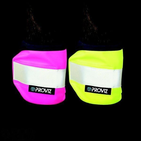 Provis Pink Horse Spats Non-fussy hi-viz accessory that neatly fits around the horse s legs for year-round hi-visibility Features Fluorescent fabric